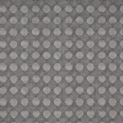 Designer Fabrics G793 140cm . Wide Silver Metallic Diamonds And Squares Upholstery Faux Leather