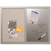 Bi-silque Fabric/Silver Magnetic Combo Board