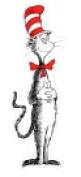 Eureka Giant Cat In The Hat Bulletin Board Set
