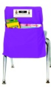Seat Sack Small Storage Pocket With New Name Card Slot - 30cm x 25cm . - Grade Prek Purple