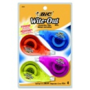 Bic White-Out Ez Correct Correction Tape - White Pack 4