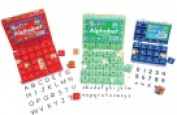 Ready2Learn Rubber Plastic Handle Stamp Set - Letters Numbers