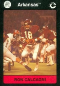 Ron Calgagni Football Card (Arkansas) 1991 Collegiate Collection No.63