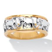 PalmBeach Jewellery 243189 Elephant Caravan Ring in 14k Gold-Plated Size 9
