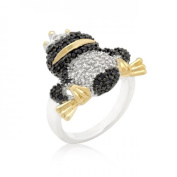 Icon Bijoux R08278T-V01-10 Cubic Zirconia Frog Prince Ring (Size
