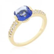 Icon Bijoux R08349G-C21-09 Light Purple Cushion Cut Cubic Zirconia Engagement Ring (Size