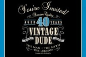 Creative Converting 891467 Vintage Dude - Invitation 40th - Case of 48