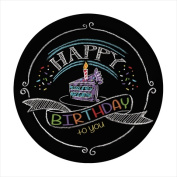 Creative Converting 415971 18cm . Chalk Birthday Lunch Plates - Case of 96