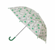 Conch Umbrellas 1079HGreen Polka Dot Clear Children Umbrella