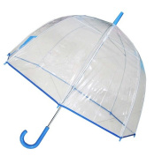 Conch Umbrellas 1265Blue Bubble Clear Umbrella Dome Shape Clear Umbrella
