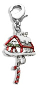 Whimsical Gifts 2796S Gingerbread House Charm Dangle in Silver