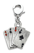 Whimsical Gifts 641S Aces Charm Dangle in Silver