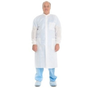 Halyard Health 10022 Large Plus Lab Coat With Knit Collar And Cuffs - 25 Coats Per Case