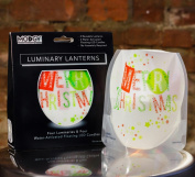Modgy LUM3013x2 Lumizu Expandable Luminary Lantern Merry HoHo
