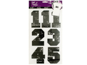 Bulk Buys GW309-96 Iron-On Black Numbers