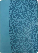 FaithWords-Hachette Book Group 112352 Amplified Everyday Life Bible - Turquoise Leatherette