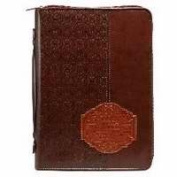 Christian Art Gifts 364370 Bible Cover-Classic And Plans - Medium Brown
