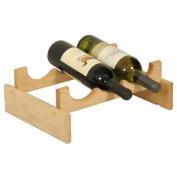 Wooden Mallet WR31UN 3 Bottle Dakota Wine Rack