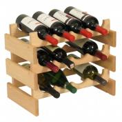 Wooden Mallet WR43UN 12 Bottle Dakota Wine Rack