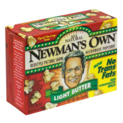 Newmans Own Light Butter Flavour Microwaveable Bag Popcorn & amp;#44; 100ml & amp;#44; - Pack of 12