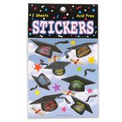Beistle TT01 Hats Off Graduation Stickers Pack Of 6
