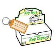 Hy-Ko Products KB143-100 Easy Open Keytag With Ring