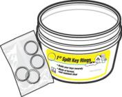 Hy-Ko Products KB105-BKT 2.5cm . Split Ring 30 Pieces