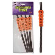 Beistle 00838 Jack-O-Lantern Straws - Case of 12