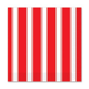 Beistle 58176 Red & White Stripes Beverage Napkins Pack Of 12