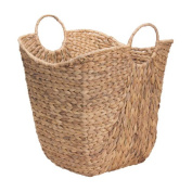 Household Essentials ML-4002 Tall Water Hyacinth Wicker Basket With Handles