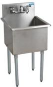 BK Resources 46cm X 46cm Stainless Steel Budget Sink