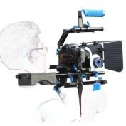 SunSmart Professional DSLR Rig + Follow Focus + Matte Box + Adjust Platform+ C Shape Support Cage +Top Handle for All DSLR Cameras and Video Camcorders