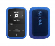 Blue Rubber Soft Silicone Skin Cover Case for Sandisk 8GB (SDMX26) Clip Jam MP3 Player