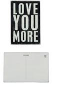 "1 X Suzy Toronto Wooden Postcard ""LOVE YOU MORE"""