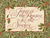Lang Perfect Timing Reason for The Season Boxed Christmas Cards, 18 Cards with 19 Envelopes