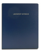 BookFactory® Economy Blue Lab Notebook - 168 Pages (Grid Format), 23cm x 29cm , Flexible Blue Cover Laboratory Notebook