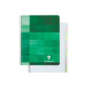 Clairefontaine Wirebound Multiple Subject Graph Paper Notebook 60 sheets with 12 tabs 17cm . x 22cm - Assorted colours