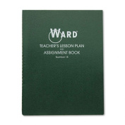 Lesson Plan Book, Wirebound, 8 Class Periods/Day, 11 x 8-1/2, 100 Pages, Green