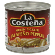 La Costena Green Pickled Jalapeno Peppers & amp;#44; 350ml & amp;#44; - Pack of 12