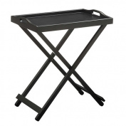 Folding Tray Table With Black Finish