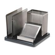 Eldon Office Products E23552 Distinctions Desk Organiser 5 7/8 x 5 7/8 x 4 1/2 Metal/Black