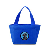 Carolines Treasures SC9136BU-8808 38cm x 18cm . Labrador Zippered Insulated School Washable and . Lunch Bag Cooler Blue
