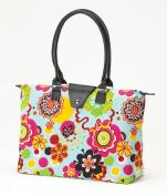 Joann Marrie Designs NF3FP Long Handle Fold-Up Bag - Flower Power Pack of 2