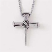 Bob Siemon Designs 63939 Necklace Cross Wrapped Nails With 60cm . Adjustable Chain