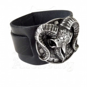 Alchemy Metal-Wear A102 Gears Of Aiwass Wrist Strap