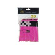 Flomo PF605 Hot Pink Premium Forks Case of 36