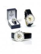 Sigma Impex B-2204 Masonic Leather Band Wrist Watch