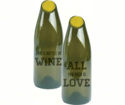 Evergreen Enterprises EG8GCH006 By The Bottle Large Glass Cork Carafe All You Need Is Love And Wine