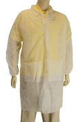 Major Gloves 00-9100-L Disposable Lab Coat - Large Pack 30