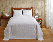 Better Trends BSNATWWH Twin Natick Bedspread White - 210cm .